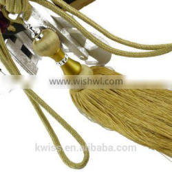 curtain tassel decoration and home textile,handmade polyester decorative yellow tassel