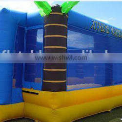 palm tree inflatable volleyball field