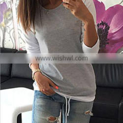 New Fashion Women Lady Long Sleeve Shirt Casual Blouse Loose Cotton Tops T Shirt