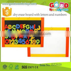 wooden material educational dry erase board dry erase board with letters and numbers