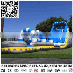 Blue pool inflatable waterslide modest pool inflatable ultra light water slide