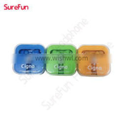 3.5mm pin in ear headphones wholesale Custom Branded printed Cheap earphone with the clients logo artwork.