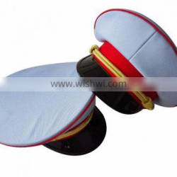 good style of white military uniform cap