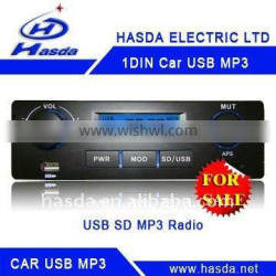 one Din car stereo player with usb sd