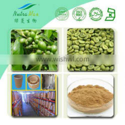 GMP Manufacturer Supply High QualityGreen Coffee Bean Extract powder, Coffee Bean Extract ,Total Chlorogenic acids 45%, 50%, 70%