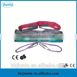 2016 wire clamp sling/ flat webbing sling, nylon sling color code customized
