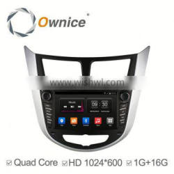 Ownice Quad Core Pure Android 4.4 car GPS navi for HYUNDAI Verna 2011 2012 2013 Built-in Wifi CAPACITIVE SCREEN
