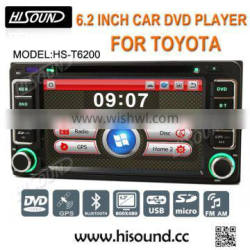 6.2 inch high quality double din car stereo for toyota corolla