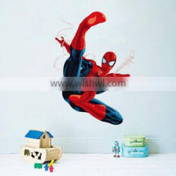 3d cartoon Spiderman Wall Stickers for Kids Rooms children room Wall decals Home Decor wallpaper Mural gift christmas decoration