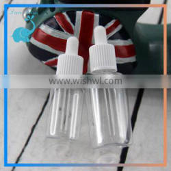 trade assurance 10ml 15ml PET plastic dropper bottles e-liquid with childproof cap and glass pipette dropper design