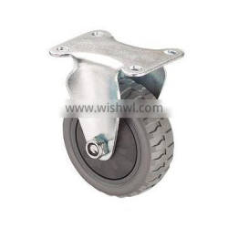 Gray Polyurethane Flame PU/PVC Caster Wheel With Fixed