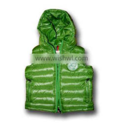 2015 Fashion 100% polyester down vest soft and warm the best selling
