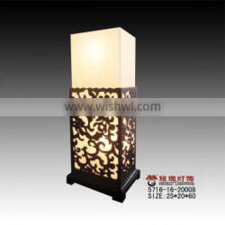 modern wooden hollow out light for table