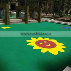 Professional high elasticity comfortable natural looking silicon pu tennis court material with low price