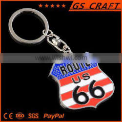Customized painted metal keychain with ring in any shape and color made by GS craft