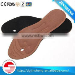 Massaging foot insole with cute design for distributing weight