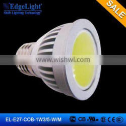 EdgeLight COB E27 5W Dimmable led spotlight