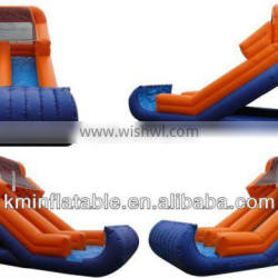 lime orange inflatable water slide