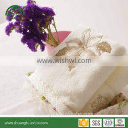Luxury embroidered cotton terry face towels gift towel wrap
