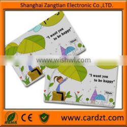 PVC laminated card / 4 color printing card Smart tracking card id oem model