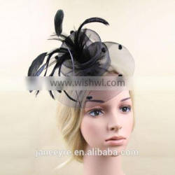 New British Style Feather Fascinator For Party Girls Hair Ornament Wholesale Quality Choice