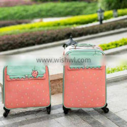 2016 hot sell trolley bag Korea style PU trollety bag candy color trolley bag