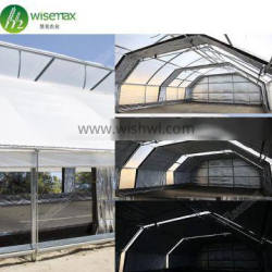 Easily installed galvanized steel frame fully automated light deprivation greenhouse