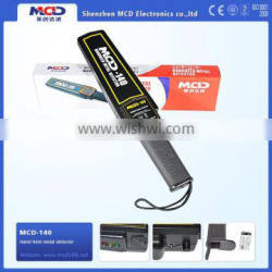 MCD140 2015 Best quality High sensitivity Superwand hand held metal detector,security checking best quality gold copper detector