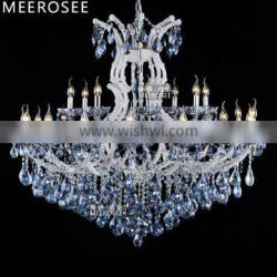Blue Color Maria Theresa Crystal Chandelier Lamp/light/Lighting Fixture Large White Chandelier Lusters