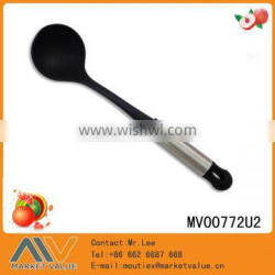 HOT SALE HIGH QUALITY NYLON KITCHEN SOUP LADLE WITH S.S HANDLE