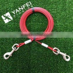 Red Color Dog Tie-Out Cable for Large Dogs