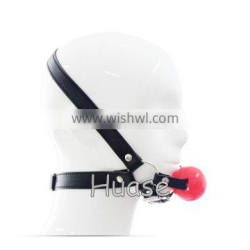 Sexy Bondage PU Solid Ball Gag Sex Novelty Adult Product Sex toy