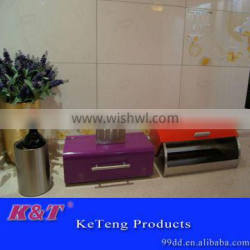 modern colorful stainless steel bread box
