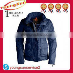 Fashion winter womens casual jackets with cargo pockets