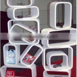 wooden display cube display decoration shoes store furniture/retail display