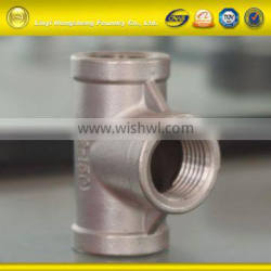 Best Quality Banded End lost wax cast stainless steel 304/316 pipe fitting Tee