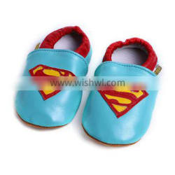New Sales Superman Baby Moccasins Shoe Wholesale Cheap Baby Crib Shoes