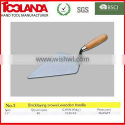 grout scraper for building construction with wood handle