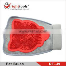 RIGHTTOOLS RT-J9 nylon glove pet grooming brushes with soft rubber pad