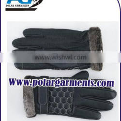 Fashionable Leather Driving Gloves Screen Touch Gloves