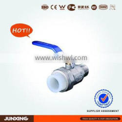 PERT pipe fittings single male threaded brass ball valve for underfloor heating system