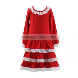 2016 Kaiyo boutique long sleeve dress boutique lace dress long frocks for teenagers pictures children christmas dress