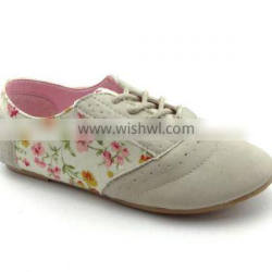 2016 ladies latest shoes pink cute bow style flat lady shoe, girl flat shoe