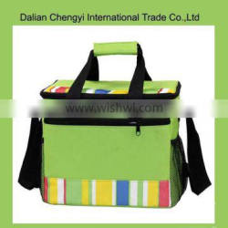 Promotional oxford double layer cooler bag with long shoulder strap