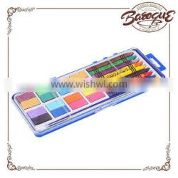 Jiangxi Baroque 16 Color Simply Art Watercolor Cakes With 8 Color Non Toxic Crayon For Kids