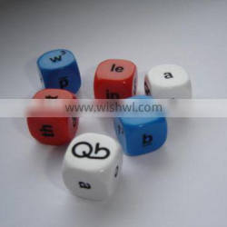 6 sides dice acrylic colorful dices,can custom your own logo
