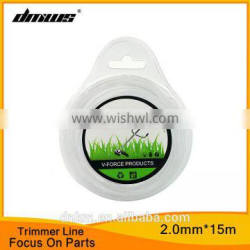 Top Garden Tool Line Grass Cutting Parts 2.0mm*15m Nylon Round Trimmer Line