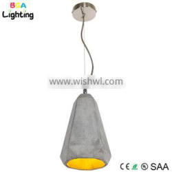 Concrete ceiling light fixture for bedroom pendant lamps with copper braided wire