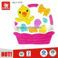 easter colorful chicken basket egg gel cling gel plastic sticker TPR window decoration