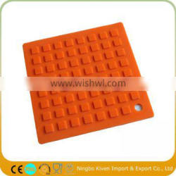 Custom silicone square baking mat for dining table